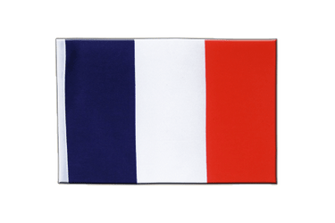 France Drapeau en satin 15 x 22 cm