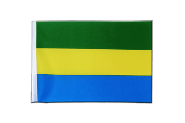 Gabon Satin Flag 6x9""