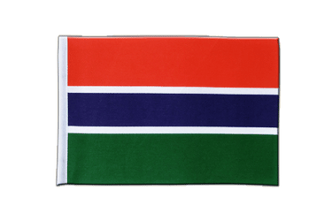 Gambia Satin Flag 6x9""