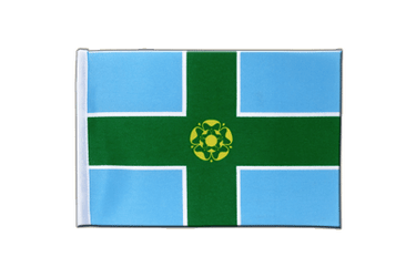 Derbyshire Satin Flag 6x9""