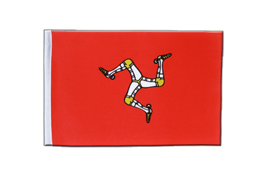 Isle of Man - Satin Flagge 15 x 22 cm