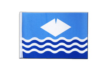 Drapeau en satin Isle-of-Wight 15 x 22 cm
