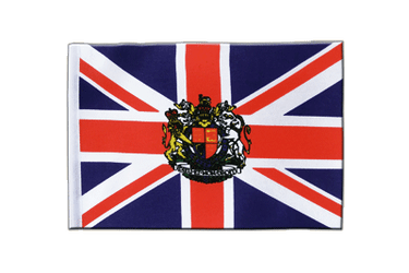 Great Britain with crest Satin Flag 6x9""
