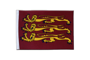 Drapeau en satin Richard Coeur de Lion 15 x 22 cm