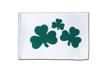 Shamrock Satin Flag 6x9""
