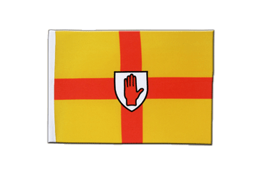 Ulster - Satin Flagge 15 x 22 cm