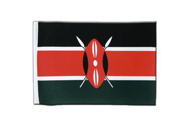 Kenya Satin Flag 6x9""