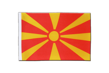 Macedonia Satin Flag 6x9""