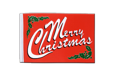 Merry Christmas - Satin Flag 6x9""