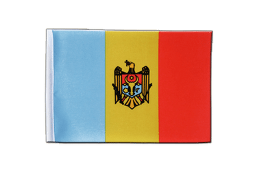 Drapeau en satin République de Moldavie 15 x 22 cm