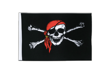 Pirate with bandana Satin Flag 6x9""
