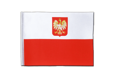 Poland with eagle Satin Flag 6x9""