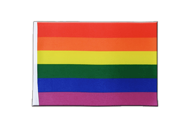 Rainbow Satin Flag 6x9""