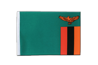 Zambia Satin Flag 6x9""