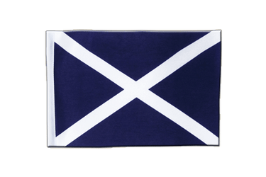 Scotland navy Satin Flag 6x9""