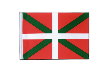 Drapeau en satin Pays Basque 15 x 22 cm