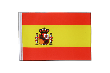 Spain with crest Satin Flag 6x9""