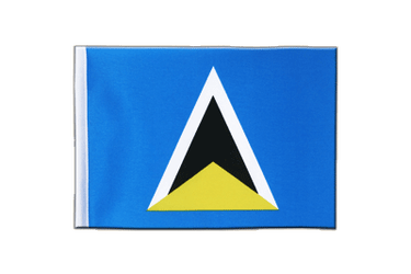 Saint Lucia Satin Flag 6x9""