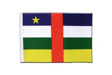 Central African Republic Satin Flag 6x9""