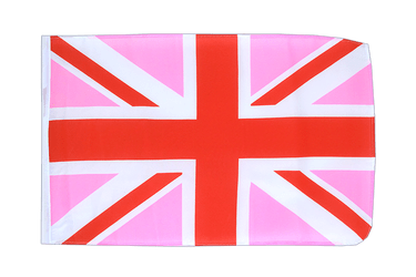 Union Jack pink 12x18 in Flag