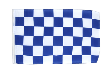 Checkered blue-white 12x18 in Flag