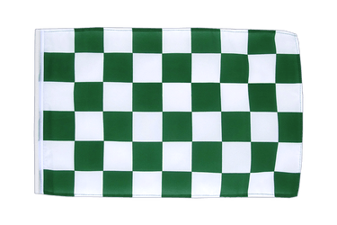 Checkered Green-White 12x18 in Flag