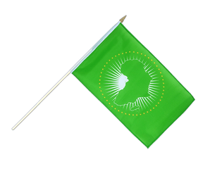 African Union AU Hand Waving Flag 12x18""