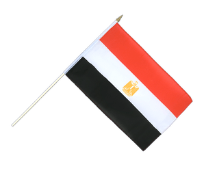 Egypt - Hand Waving Flag 12x18""