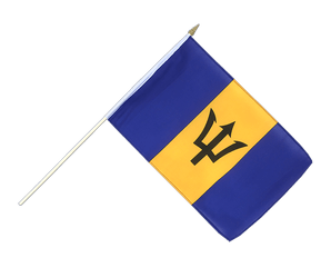 Barbados Hand Waving Flag 12x18""