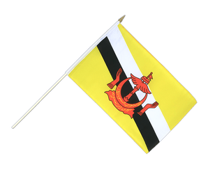 Brunei Hand Waving Flag 12x18""