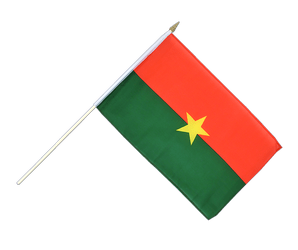 Burkina Faso Hand Waving Flag 12x18""