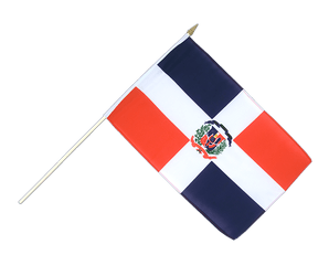Dominican Republic Hand Waving Flag 12x18""