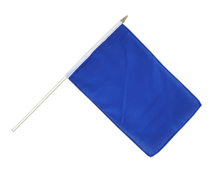 Blue - Hand Waving Flag 12x18""