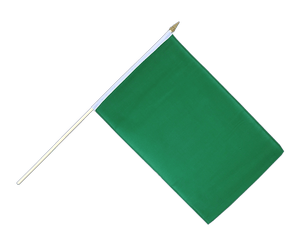 Green - Hand Waving Flag 12x18""