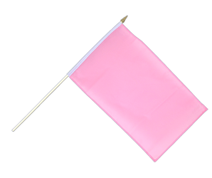 Pink - Hand Waving Flag 12x18""