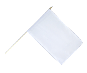 White - Hand Waving Flag 12x18""