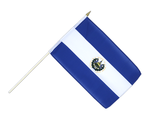 El Salvador Hand Waving Flag 12x18""