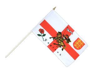 England with knight - Hand Waving Flag 12x18""