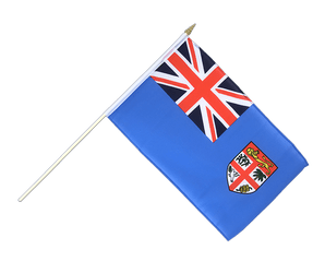 Fiji Hand Waving Flag 12x18""