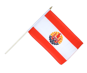 French Polynesia Hand Waving Flag 12x18""