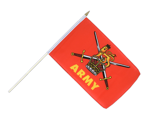British Army - Hand Waving Flag 12x18""
