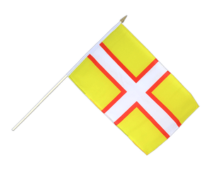 Dorset - Hand Waving Flag 12x18""