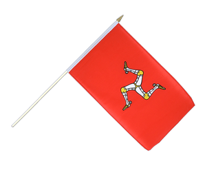 Isle of man Hand Waving Flag 12x18""