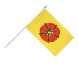 Lancashire new Hand Waving Flag 12x18""