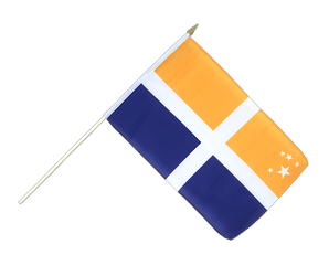 Isles of Scilly Hand Waving Flag 12x18""