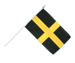 St. David Hand Waving Flag 12x18""