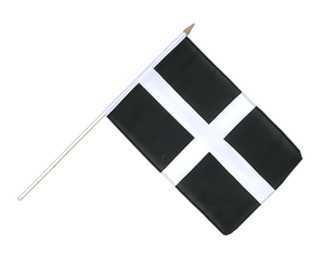 St. Piran Cornwall Hand Waving Flag 12x18""