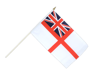 Naval Ensign of the White Squadron Hand Waving Flag 12x18""