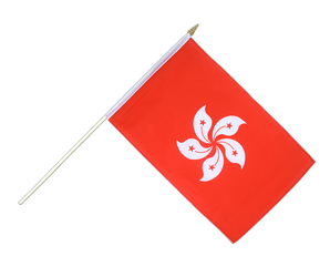 Hong Kong Hand Waving Flag 12x18""