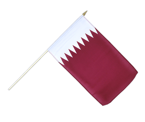 Qatar Hand Waving Flag 12x18""